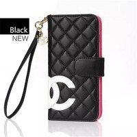 Chanel Trending Women Men Print iPhone Phone Cover Case For iphone 8 8plus iPhone6 6s 6plus 6s-plus 7 7plus Black I