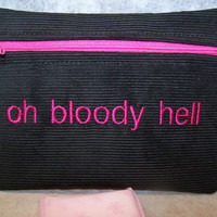 Oh Bloody Hell Tampon & Maxi Pad Taxi Black and by WoobiesGifts