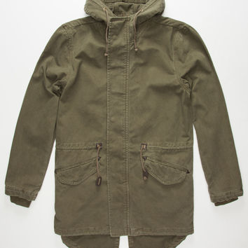 Charles And A Half Mens Anorak Jacket Olive  In Sizes