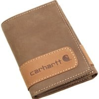 Carhartt Men's Two Tone Trifold Wallet,Brown,One Size