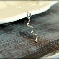 Curly Cue Necklace in Sterling Silver