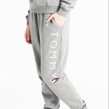 """""""Tommy Hilfiger"""" Fashion Stretch Gym Sport Running Pants Trousers Sweatpants Trousers"""