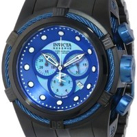 Invicta Bolt Chronograph Blue Dial Black Ion-plated Mens Watch 12735