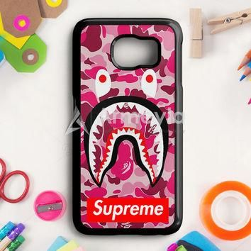 Supreme Bape Camo Shark Samsung Galaxy S6 Edge Plus Case | armeyla.com