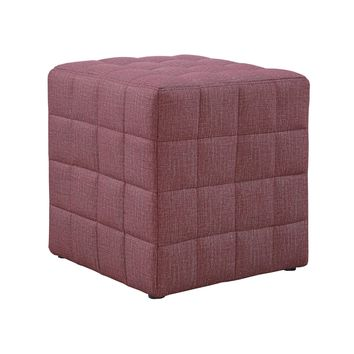 Ottoman - Light Red Linen-Look Fabric