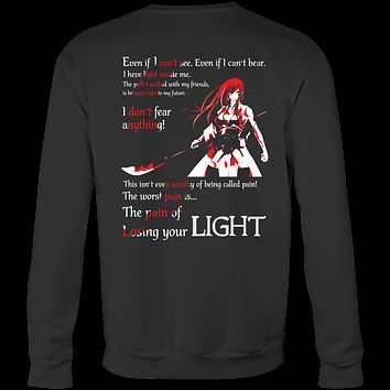 Fairy Tail - The pain of losing your light Erza Scarlet - Unisex Sweatshirt T Shirt - TL01106SW