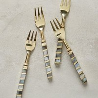 Mother-Of-Pearl Small Forks by Anthropologie in Light Grey Size: Forks Kitchen