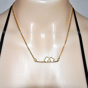 simple style gold bird pendant necklace women collarbone necklace short necklace CP14