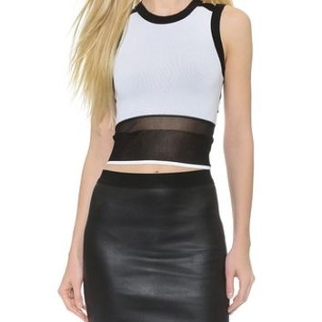 Helmut Lang Opposing Opacity Sleeveless Top