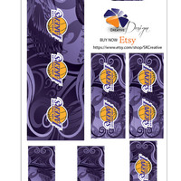 Lakers Iphone Charger Sticker