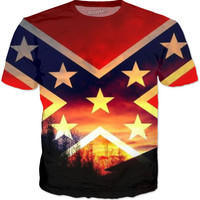 Rebel/confederate Flag T Shirt
