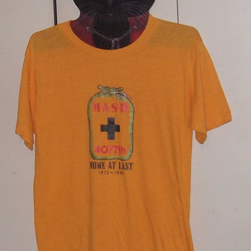 Vintage 1980s MASH t-shirt super soft thin 50/50