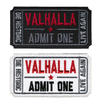 Valhalla palace tactical Vikings mad Max moralethe tactical military patches badges for clothes clothing HOOK LOOP 7.6*5CM