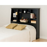 Broadway Black Twin Tall Slant-back Bookcase Headboard | Overstock.com
