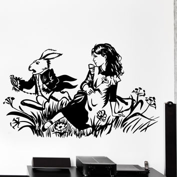 Vinyl Wall Decal Alice Adventures In Wonderland English Classic Home Decor Unique Gift z4487