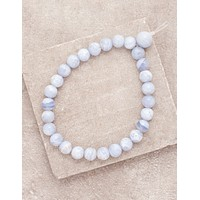 High-Energy Blue Lace Agate Wrist Mala