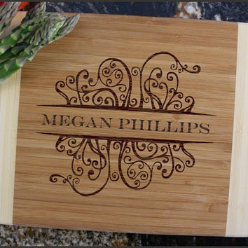 Personalized Cutting Board, Engraved Bamboo Cutting Board, Personalized Wedding Gifts, Cutting Boards, Housewarming Gift-10 x 7 D4