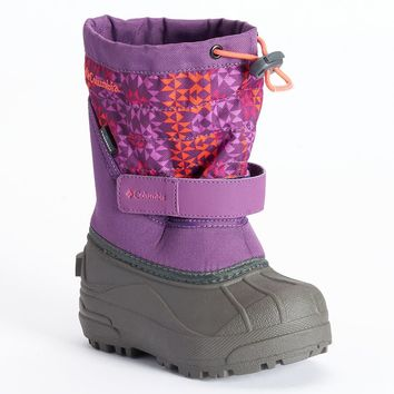 Columbia Powerblug Plus II Girls' Waterproof Winter Boots (Purple)