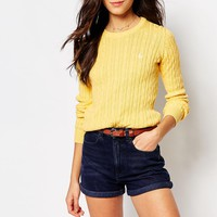 Jack Wills Tinsbury Cable Crew Neck Knit Sweater