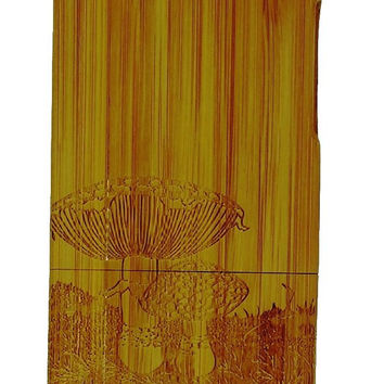 Unique 'Lotus Flower' Pattern Eco-Friendly 100% Hand-made Real Natural Wood/Bamboo Hard Shell Case for iPhone 5/5s (WD-5G-13)