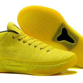 Nike Mens Kobe AD 13 Mid Sonic Speed Yellow Basketball Shoes