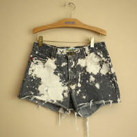 Etsy Transaction -        Vintage 90s DISTRESSED Jean Shorts in Grey.