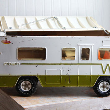 Vintage Metal Tonka Toy - 1970s Indian RV Winnebago Toy