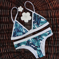 Retro Style Sports Swimsuit Bikinis Set