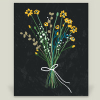 Yellow Flowers Art Print by yetzenialeiva on BoomBoomPrints