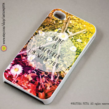 Home is wherever I am with you photo quote iphone case 4/4S- iphone case 5/5S -Galaxy S4 -boho case-Design by Natura Picta-NP074