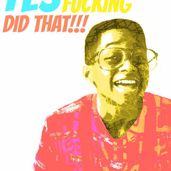 "STEVE URKEL 8x10"" Digital Illustration Art Print by MOPS"