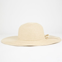 Straw Floppy Hat Natural One Size For Women 25477442301