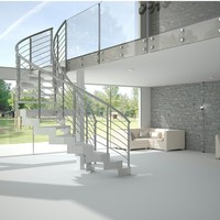 Helical steel Spiral staircase LASER HELIOS Laser Collection by Novalinea