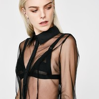 Seein' Things Sheer Crop Top