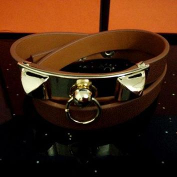 Hermes Women Fashion Leather Bracelet Jewelry