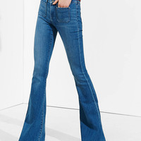 Mid Rise Released Hem Bell Flare Jean from EXPRESS