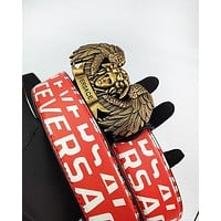 Versace men's and women's casual belts are hot sellers with printed gold buckle belts #5