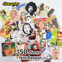 Mixed 50 PCS Boys And Girls Stickers for Laptop Skateboard Toys Car Styling Motorcycle Cool Doodle JDM Sticker Waterproof Decals