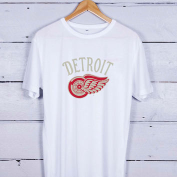 Detroit Red Wings Logo Tshirt T-shirt Tees Tee Men Women Unisex Adults