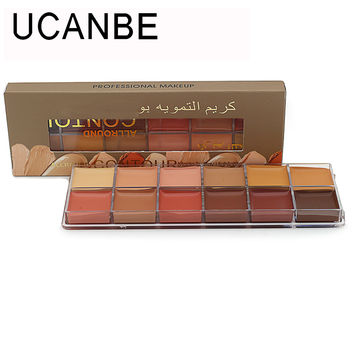 Hot Sale Professional Makeup Concealer Palettes Natural Face Concealer Cosmetic 12color Palette Brighten and Contour Highlighter