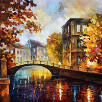 "The River Of Memories — Oil Painting On Canvas By Leonid Afremov. Size: 30""x24"""
