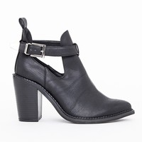 Missguided - Rose Buckle Ankle Boots Black