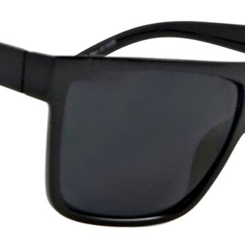 Retro Flat Top Sunglasses Addison Classic Men Women Square Black Frame