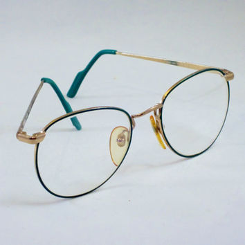 Vintage BENETTON Eyewear Frames Eyeglasses BOSTON TEAL Italy 1980s