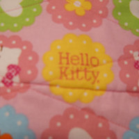 Hello Kitty Pink Fabric Wallet / Women / Handmade / Quilted / Clutch