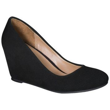 Women's Merona® Mackenzie Suede Wedge Pumps - Black