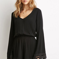 Bell-Sleeved Romper