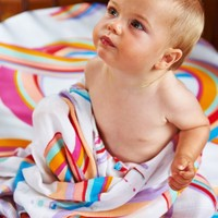 Crazy Face & Rainbow Nap Wrap - Pack of 2 by Kip & Co | Baby Wrap - Hunters and Gatherers