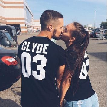 Bonnie and Clyde Couple T-Shirts