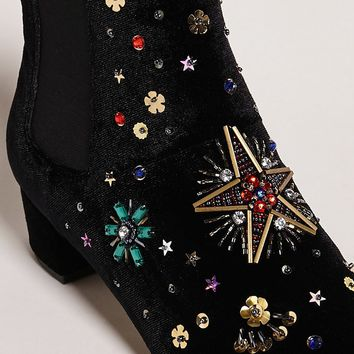 Betsey Johnson Beaded Velvet Boots